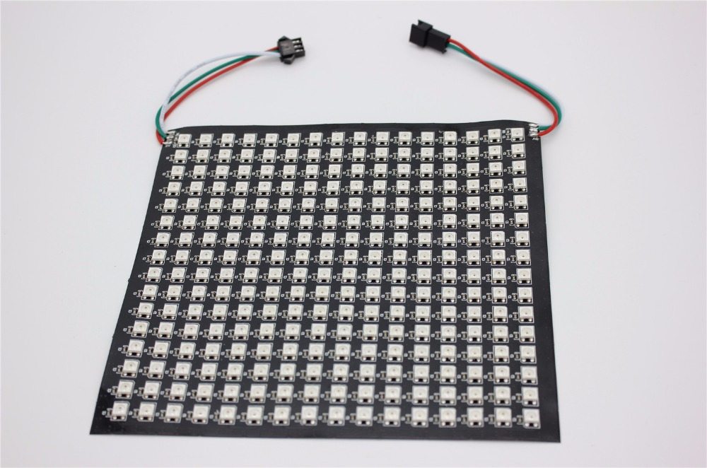 P10mm 16*16 pixels 256 led flexible mini matrice led ws2812 WS2812b