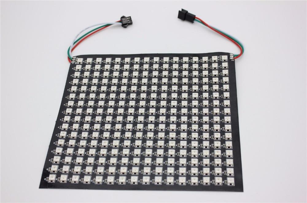 P10mm 16*16 pixels 256 led flexible mini matrice led ws2812 WS2812b