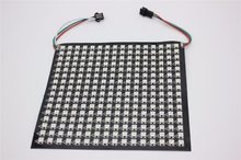 P10mm 16*16 pixels 256leds flexibele mini led matrix ws2812 WS2812b(China)