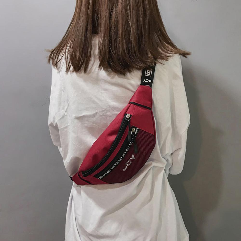 2019 Fashion Neutral Banana Waist Belt Bag Bags Heuptas Outdoor Zipper Canvas PU Messenger Bag Fanny Pack Sport Chest Bag J72