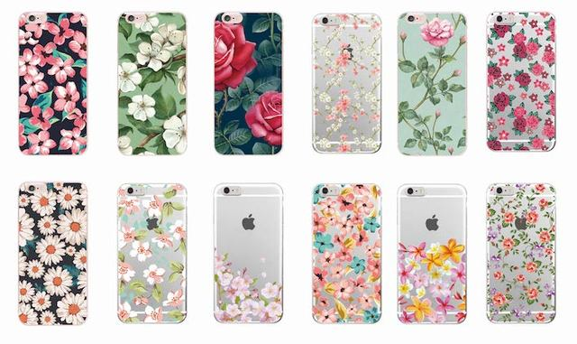 Soft & Transparent Silicon printed case with Cherry Blossom Flowers Rose Pattern design for iPhone 7 7Plus 6 6S 6Plus 5 5S SE 5C