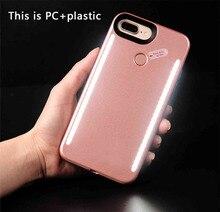 Luminou S телефон ca s e s для iPhone 7 6 6S Plus чехол светящийся свет селфи LED Телефон Case для iPhone 6 6S 7 plu s ca s e с легким