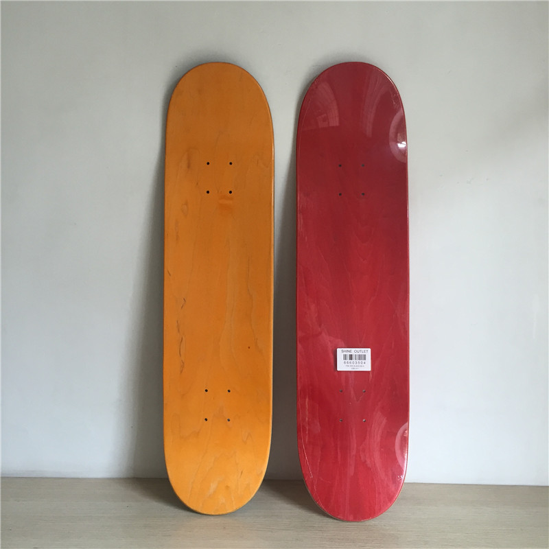 Wholesale 1 pc Blank Colored Skateboard Deck Canadian Maple Skate Decks Red Green & Black Colors Available 1pc 8inch blank skateboard deck orange black colored 7 layers full canadian maple skate board deck