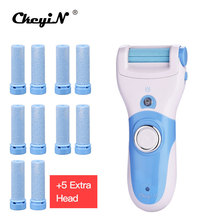 CkeyiN Foot Care Tool+5Pcs Replace Roller Grinding Heads Electric LED Skin Callus Remover Personal Care Heel Cuticles Shaver 40