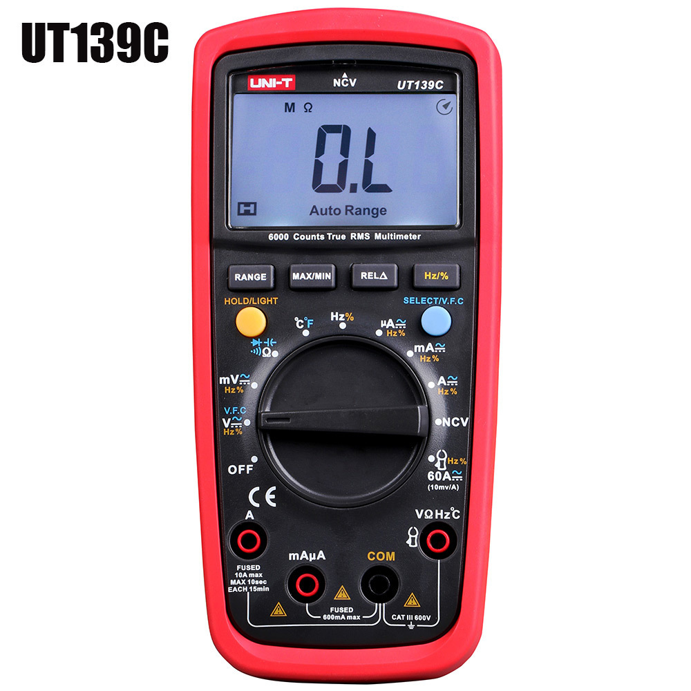 UNI - T UT139C True RMS Multimeter LCD Display Digital Multimeter Auto Range Pen Test Leads Handhold Capacitor Tester Device цены