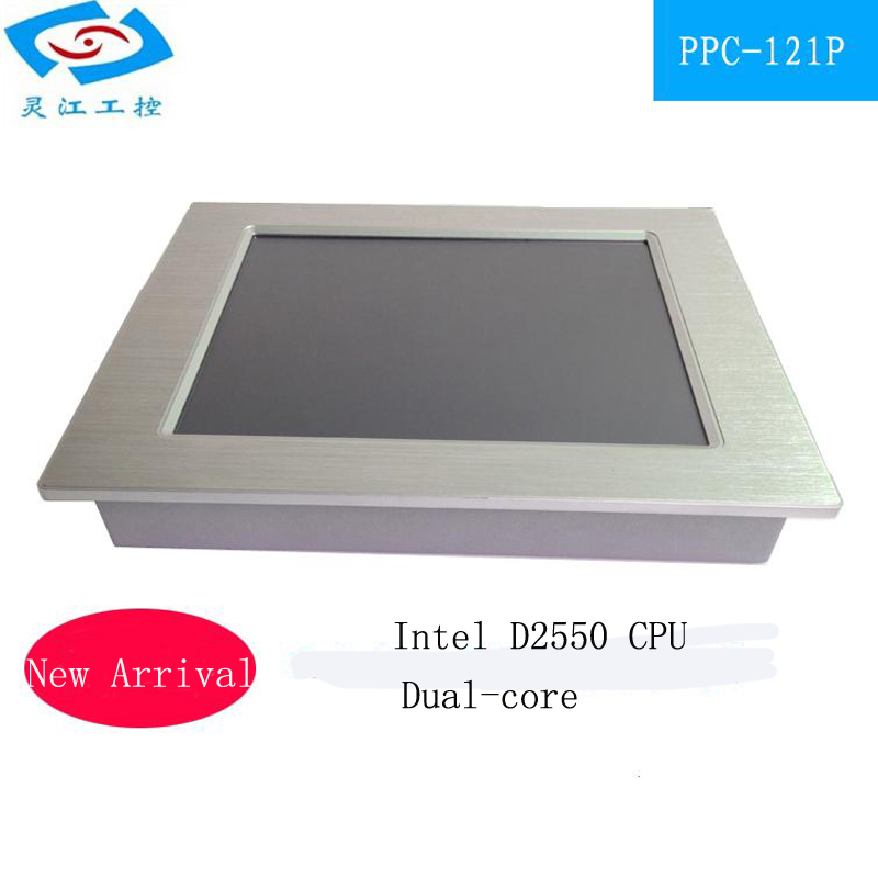 Hot Sale 12.1 Inch Mini Fanless Industrial Touch Panel Pc With N2800 2*PCIE Slots