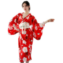5560310c5 Vestido de quimono japonês tradicional cosplay feminino mulheres yukata  haori Japão gueixa traje obi Japão roupas AA3928
