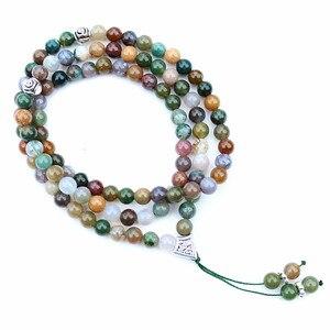 Image 4 - Handmade 6mm Natural stone bead with Alloy charm Shape 99 Prayer Beads Islamic Muslim Tasbih Allah Mohammed Rosary for women men