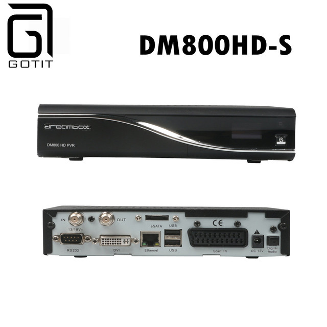 Best Satellite Receiver Hd DM800HD-S with 800HD PVR DVB-S Satellite Receiver Hd Linux System 400MHz Enigma 2 Free Shipping