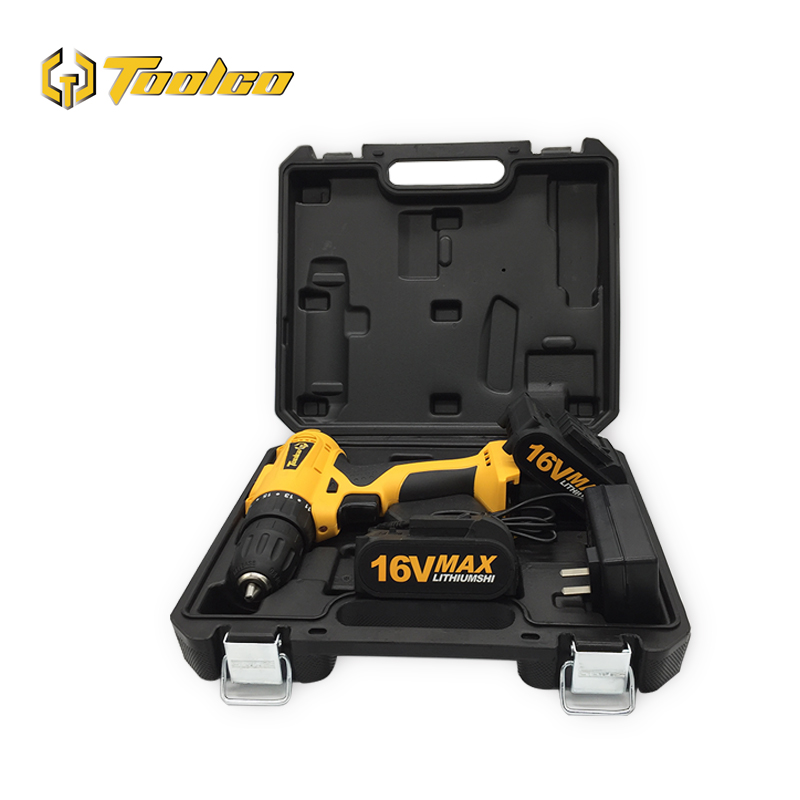 Toolgo <font><b>16V</b></font> Electric Screwdriver Cordless Drill 2 Lithium-Ion <font><b>Battery</b></font> Rechargeable Mini Drill 2-Speed Wireless Power Tool image