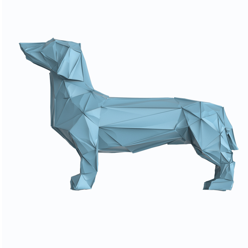 Big Resin Abstract Dachshund Dog Figurines Home Decor Crafts Room Decoration Objects Vintage Ornament Resin Animal Figurine Gift