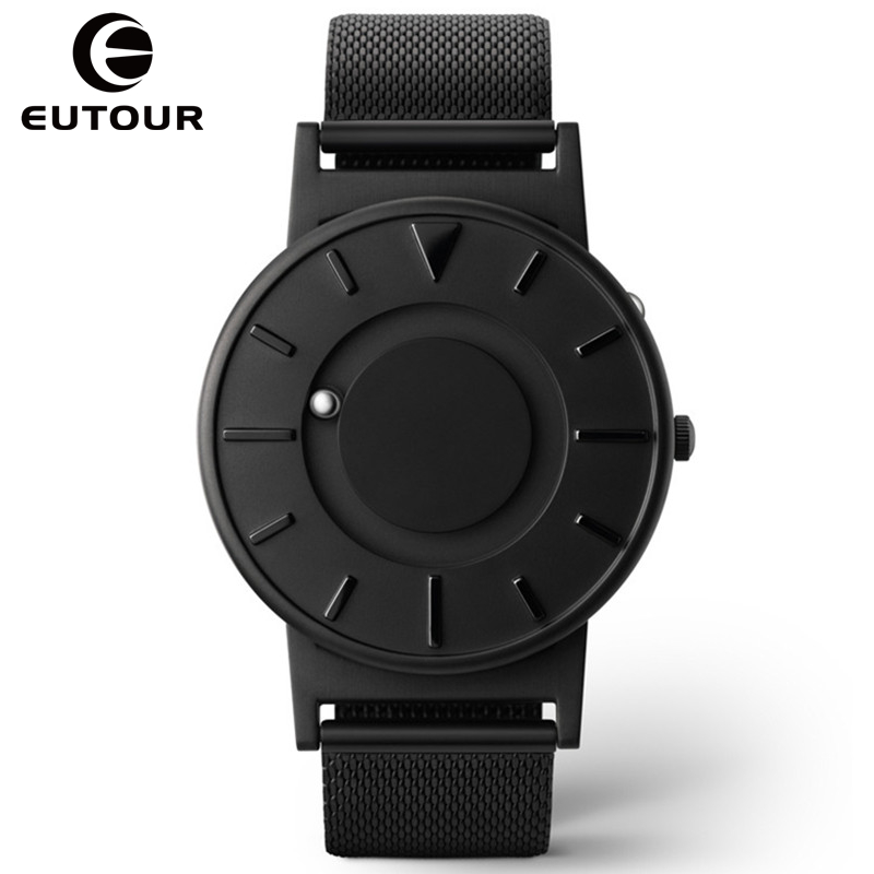 Eutour 2017 Men Luxury Top Brand Concise Innovate WristWatches Fashion Ball Sport Magnetic Stainless Steel Strap