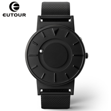 Eutour 2017 Men Luxury Top Brand Concise Innovate WristWatches Fashion Ball Sport Magnetic Stainless Steel Strap Quartz Watches