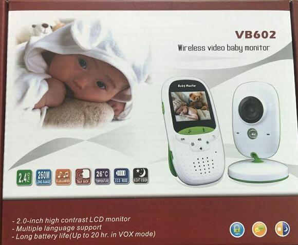 Babykam bebek telsizi baby radio monitor 2.0 inch LCD IR Night Vision Temperature Monitor Lullabies 2 way talk VOX bebek telsiz