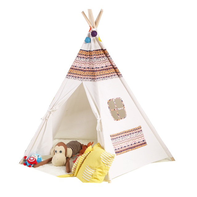 tipi tissu tipi tissu bennytex coton marque heytens tissu motif indien renard raton tipi. Black Bedroom Furniture Sets. Home Design Ideas
