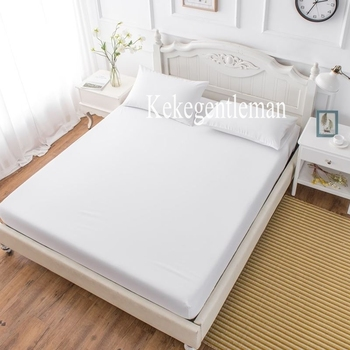 Fitted Sheet Mattress Cover with All-around Elastic Rubber  1