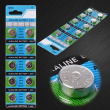 10PCS Alkaline Battery AG13 1.5V LR43 386 Button Coin Cell Watch Toys Batteries Control Remote SR43 186 SR1142 LR1142