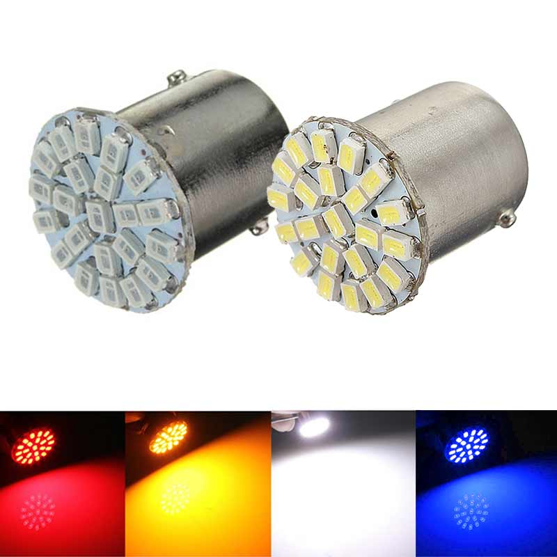 1Pc 1156 BA15S 1206 22SMD White LED Brake Turn Light Auto Mobile Wedge Lamp Tail Bulb Super Bright DC 12V CSL2017