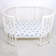 Хлопковая простыня для кроватки, мягкий дышащий матрас для детской кровати, чехол для кровати, постельные принадлежности для новорожденных, размер 130*70 см