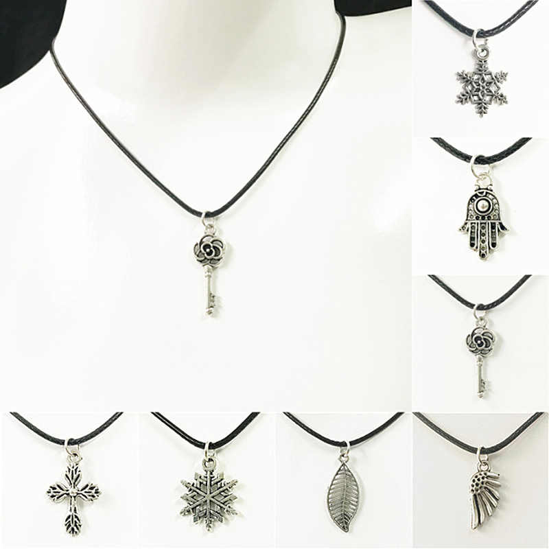 Fashion Punk Silver Color Necklace Unique Hollow Alloy Pendant Necklace For Man Women Trendy Neck Accessories Fashion Jewelry