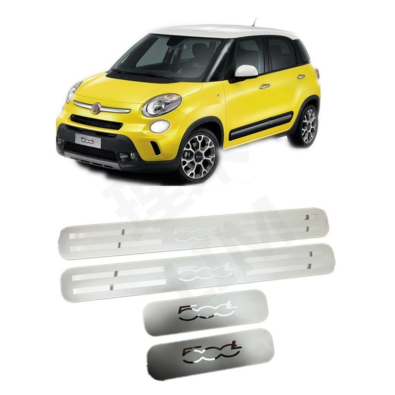 Suitable For FIAT 500L 2014 2015 2016 2017 2018 2019 Four Door Stainless Steel Scuff Plate Door Sill Cover Trim Car Accessories