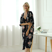 Printed Follower Robe Women's Long N Large Size Robe Simple Loose Home Clothes 999 the follower