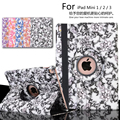 Auto Sleep 360 degree Blue and white porcelain Rotating Cover Stand case For apple iPad Mini 1 2 3 Case cover +film+pen