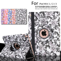 Auto Sleep 360 Degree Blue And White Porcelain Rotating Cover Stand Case For Apple IPad Mini