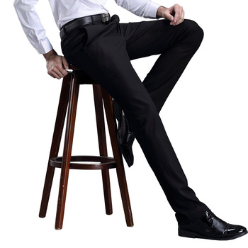 TECHOME Brand Formal Suits Pants Mens Wedding Trousers Size 29-42 Easy Care Black Straight Casual Business Men Office Pants