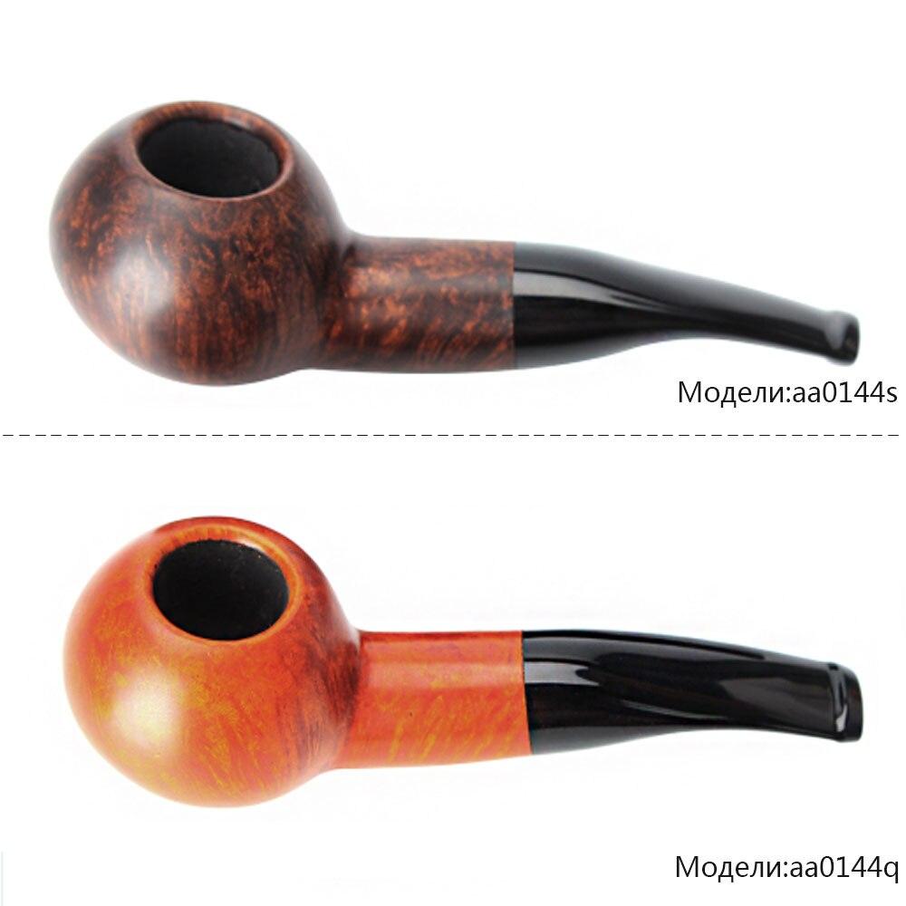 2018 Nouveau 1 pièces de Haute qualité En Bois Bruyère Pipe En Bois De tabac Pour 9mm filtre aa0144