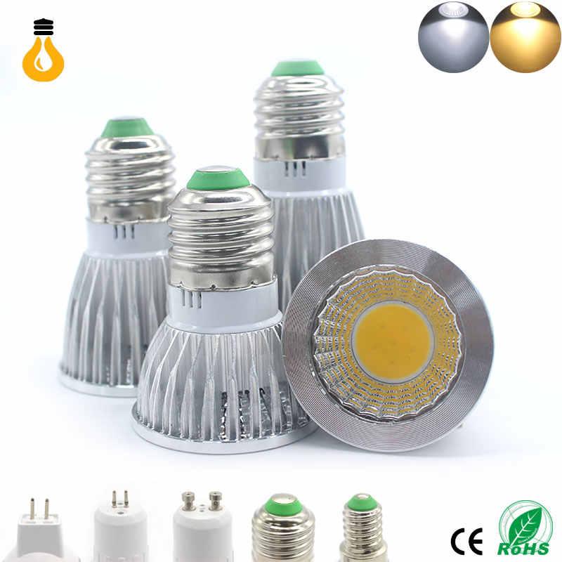Самая низкая цена лампада Led E27 E14 GU10 COB светильник 9 Вт 12 Вт 15 Вт Bombillas Светодиодный точечный светильник Теплый Холодный белый MR16 12 В Светодиодная лампа гу 5,3 220 В