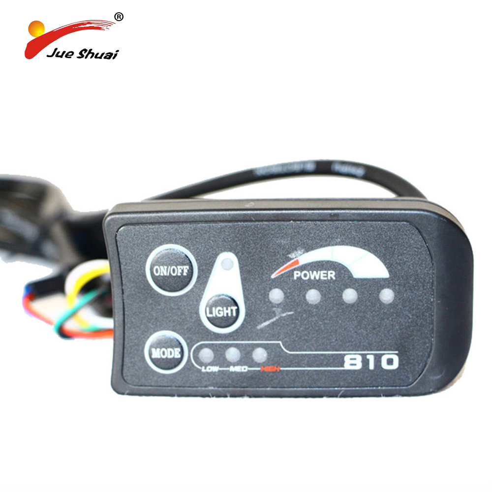 Waterproof Or Normal Connector 810 LED Display For Electric Bicycle Cycling Speed Meter Connect Ebike Headlight And Controller