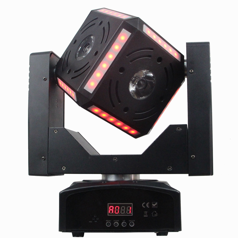 Free Shipping 6*12W RGBW Magic Cube Stage Effect Beam Moving Head Dmx Spot Wash For Dj Disco Lighting Projector