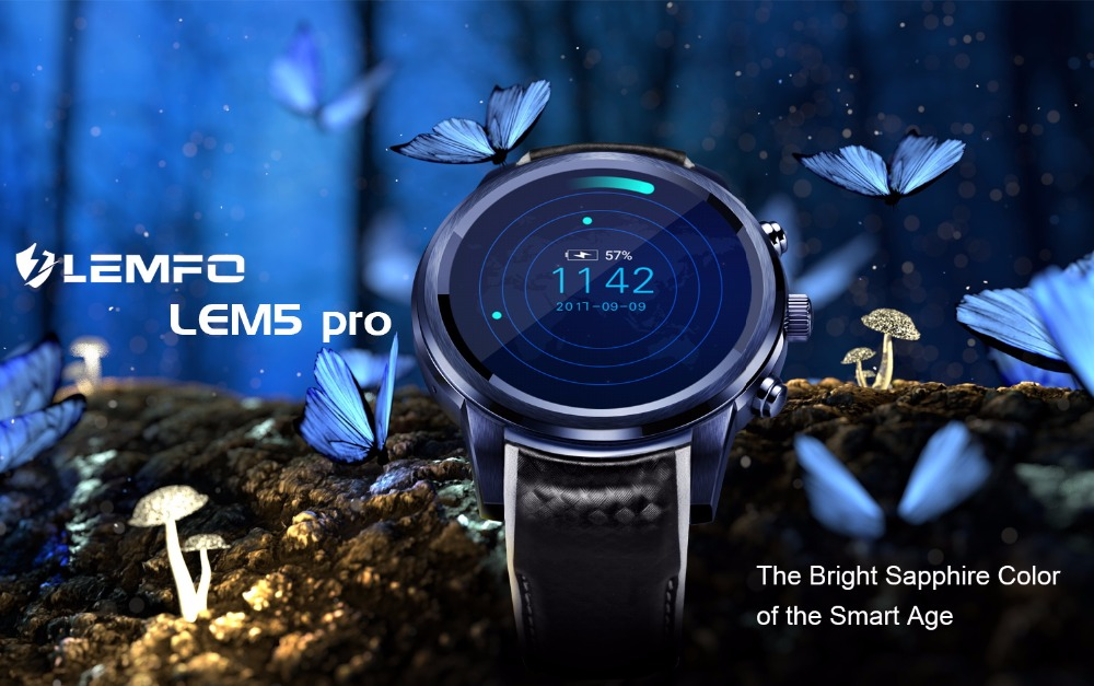 LEMFO LEM5 Pro Android Smart Watch For Men And Women 2GB + 16GB With GPS WiFi And Bluetooth 1