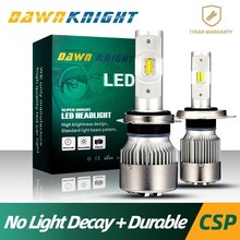 No Light Decay H7 Led Bulbs H1 H3 H4 H8 H9 H11 9005HB3 9006HB4 9004HB1 9007HB5 Car Headlight 50W 7600LM 6000K CSP CHIP