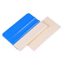 Ehdis 10 개/몫 교체 양모 펠트 4 inch 10 cm 카드 스퀴지 자동차 랩 비닐 필름 스크레이퍼 자동차 스티커 창 색조 도구