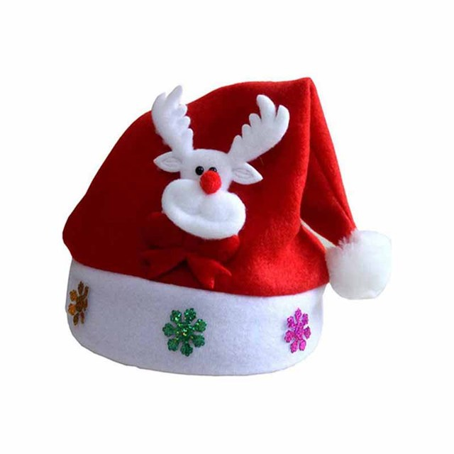 5e9e8ac7df6c1 New High Quality Cute Christmas Hat Children Santa Claus Reindeer Snowman Party  Cap Christmas Hats Festive Party Supplies Gift