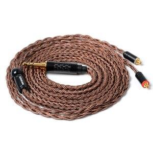 Image 1 - NICEHCK 16 Core Hohe Reinheit Kupfer Kabel 3,5/2,5/4,4mm MMCX/2Pin Kabel Für TFZ ZSX ZS10 C12 C16 V90 BA5 NX7 PRO/DB3/F3/M6 BL 03