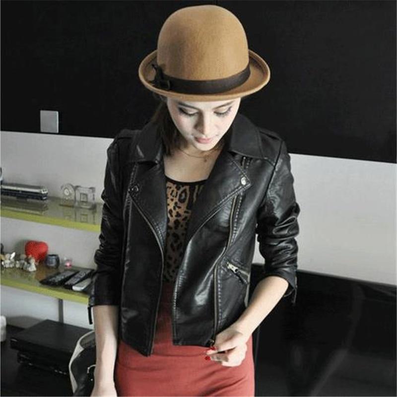 Women Plus Size Jacket   Leather   Jackets Pu Motorcycle Coats   Leather   Coat Manteau Abrigo Veste Oversized Black Slim La Chaqueta