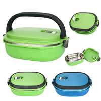 1pc Stainless Steel Lunch Boxs Food Fruit Storage Container Portable Bento Box Safe Food Picnic Container