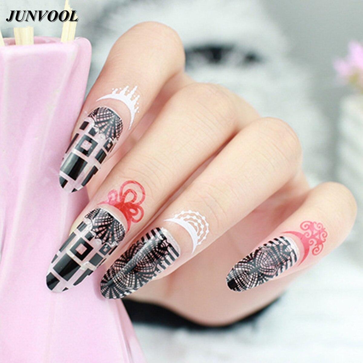 13 Stkspartij Cuticle Tattoo Nail Art Stickers Tijdelijke Decals