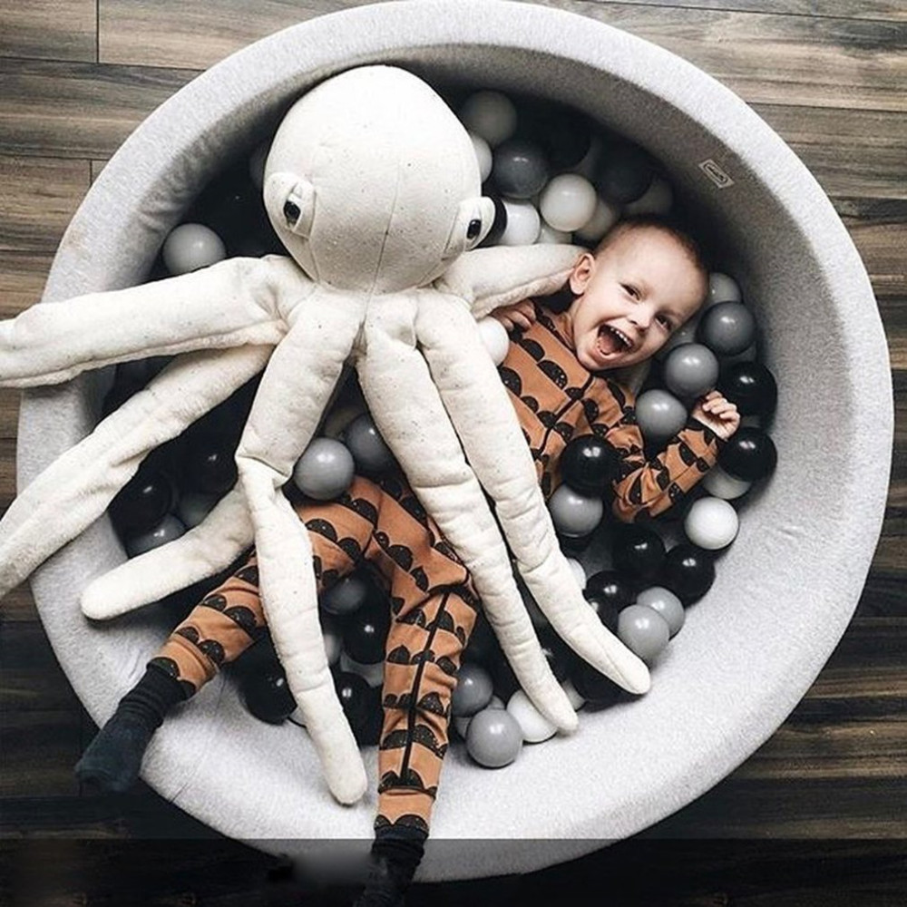 Bébé Anti stress jouer océan balles enfants en plastique souple noir gris blanc Stress balle piscine Pit jeu jouets pour enfants ballon cadeau HO