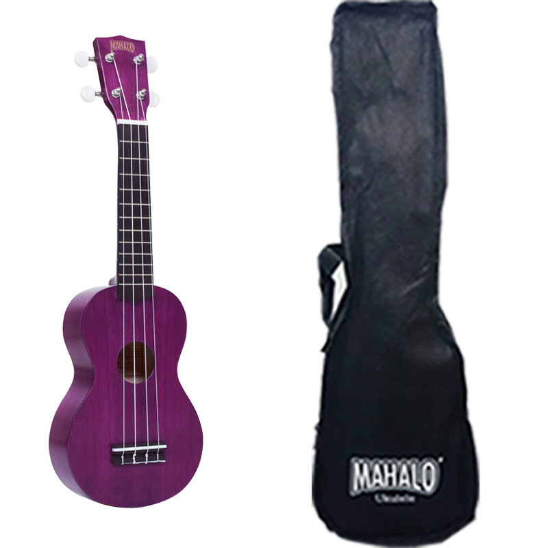 Mahalo MK1PTPP Ukulele soprano with case, strings Aquila, color Transparent Purple series Kahiko Plus 3cleader® case cover shell skin for ps4 dualshock 4 controller with buttons chrome plating color purple