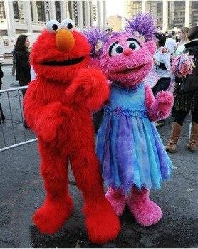 sesame street red elmo mascot costumes long fur red monster halloween mascot s cartoon costumes - Halloween Costumes Elmo
