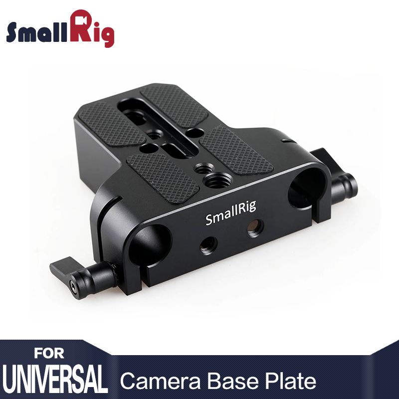 SmallRig Universal Low Profile Dslr Camera Base Plate with 15mm Rod Rail Clamp Such As for Sony Fs7, For Sony A7 Series 1674