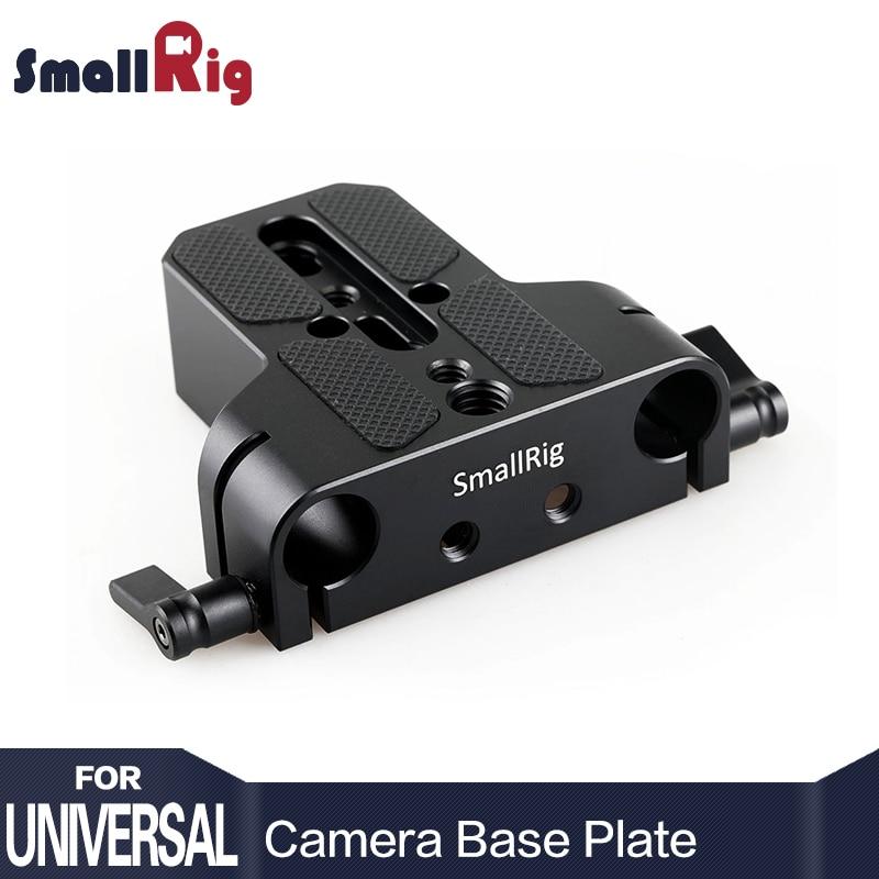 SmallRig Universal Profil Bas Dslr Caméra Plaque De Base avec 15mm de Rail de Rod Pince Tels que les pour Sony Fs7, pour Sony A7 Série 1674