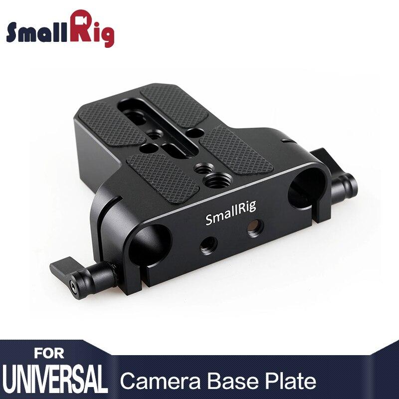 SmallRig Universal Profil Bas Dslr Caméra Plaque De Base avec 15mm Tige Rail Pince Tels que les pour Sony Fs7, pour Sony A7 Série 1674