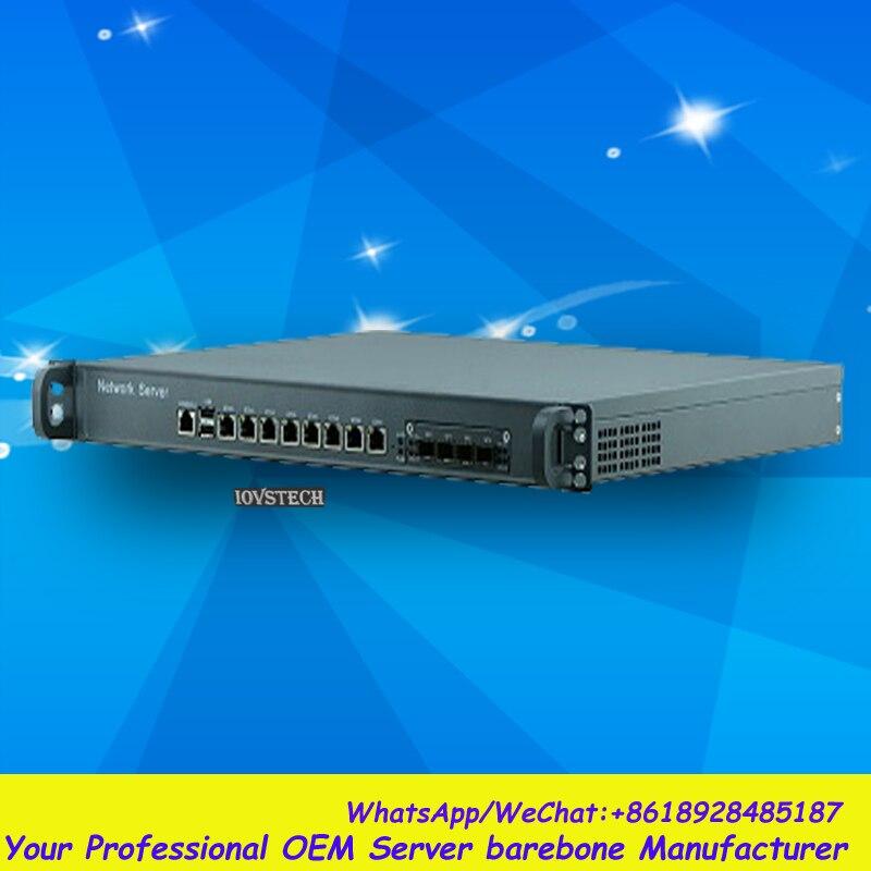 Huge storage 1U Rack 8LAN Network Security/Router Barebone
