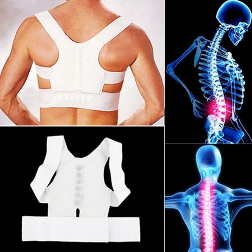Белые удобные магнитные Корректор осанки Пояс от боли в спине Brace плеча релиз боль от болезни 2018 Лидер продаж