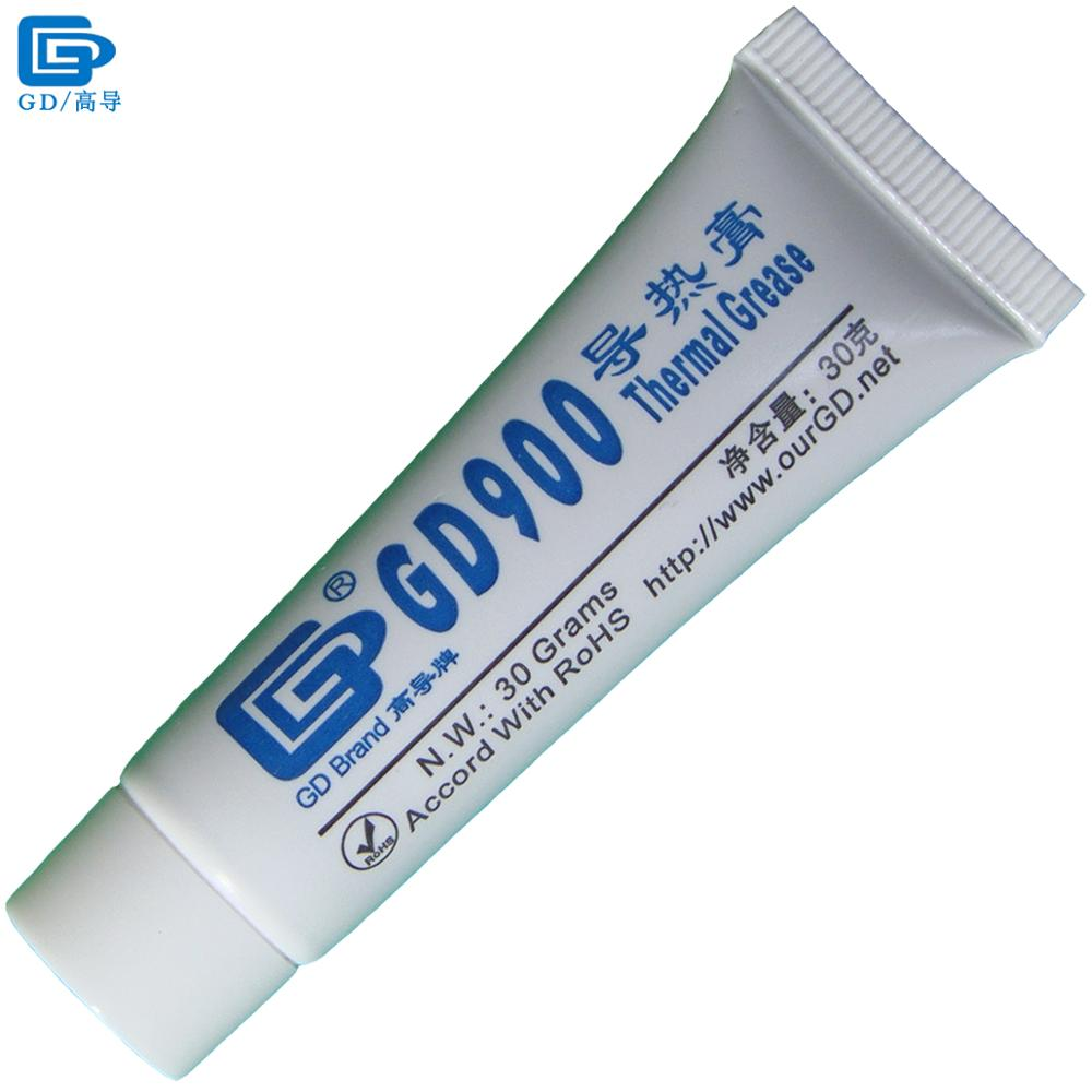 GD900 Thermal Conductive Grease Paste Silicone Plaster Heat Sink Compound Net Weight 30 Grams High Performance Gray For CPU ST30 gd450 thermal conductive grease paste silicone plaster heat sink compound net weight 30 grams golden for led gpu cpu cooler sy30